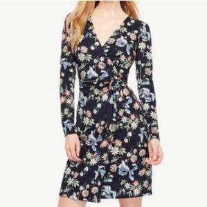 Ann Taylor floral wrap dress